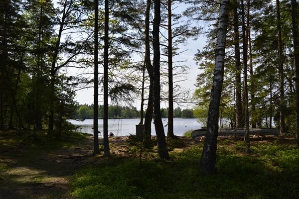 Bådepladsen set fra den lille sti